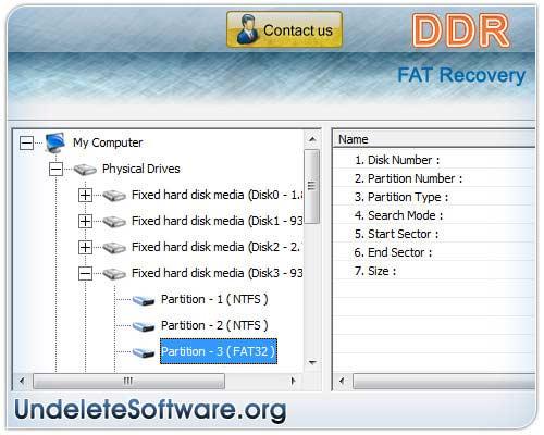 Fat Hard Disk Undelete Software 4.0.1.6 full