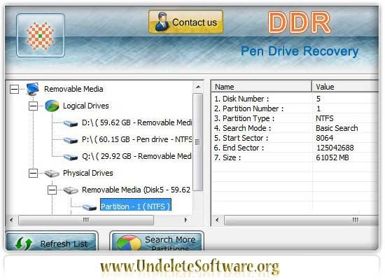 Pen Drive Undelete tool restore official file
